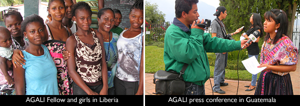 AGALI fellows in Liberia and Guatemala