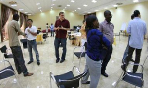 Mentors and mentees participated in a range of team building exercises