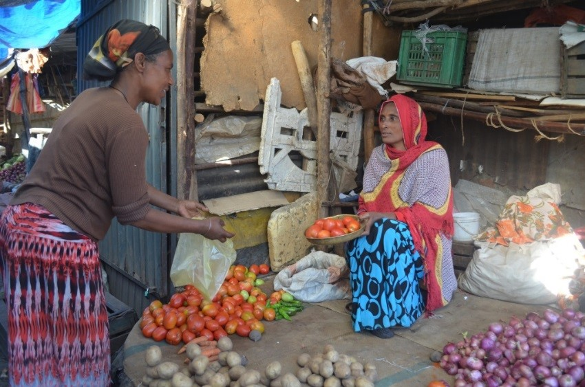 Selling produce in Ethiopia