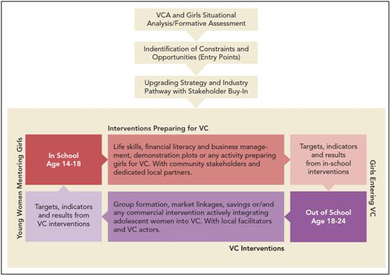 Girls and the Value Chain Approach Diagram