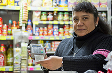 Woman with digital payment method