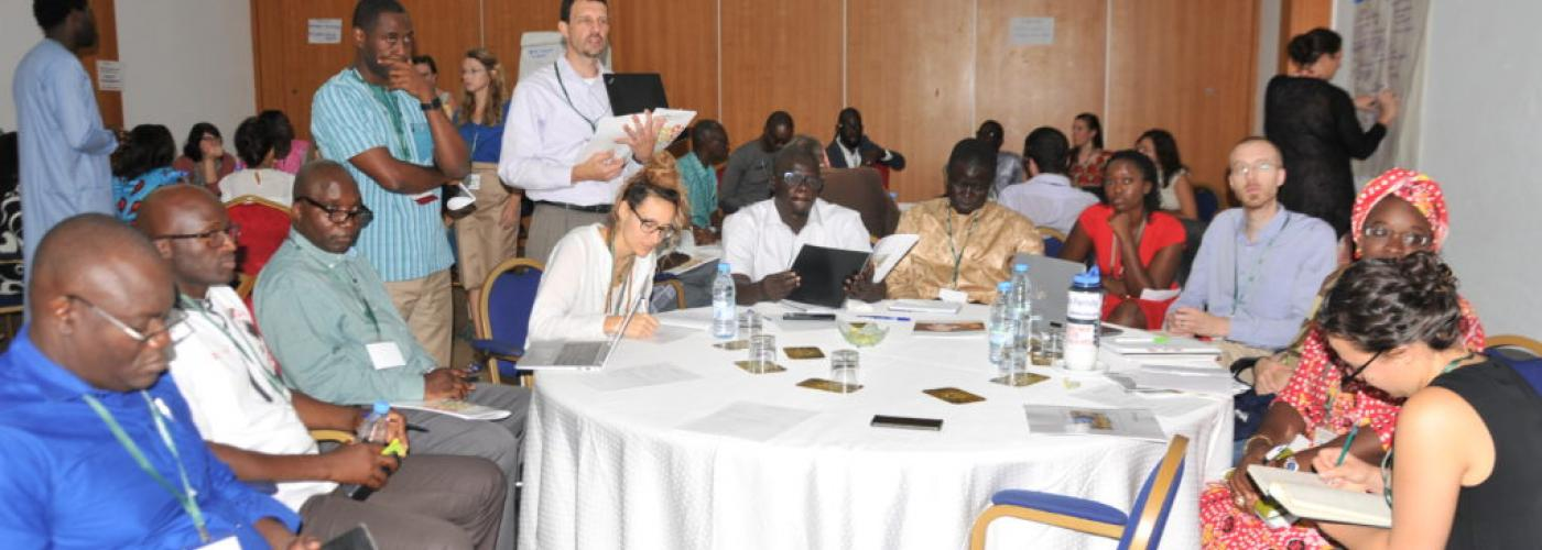 Photo: Participants attend a workshop at Cracking the Nut 2019 in Dakar, Senegal