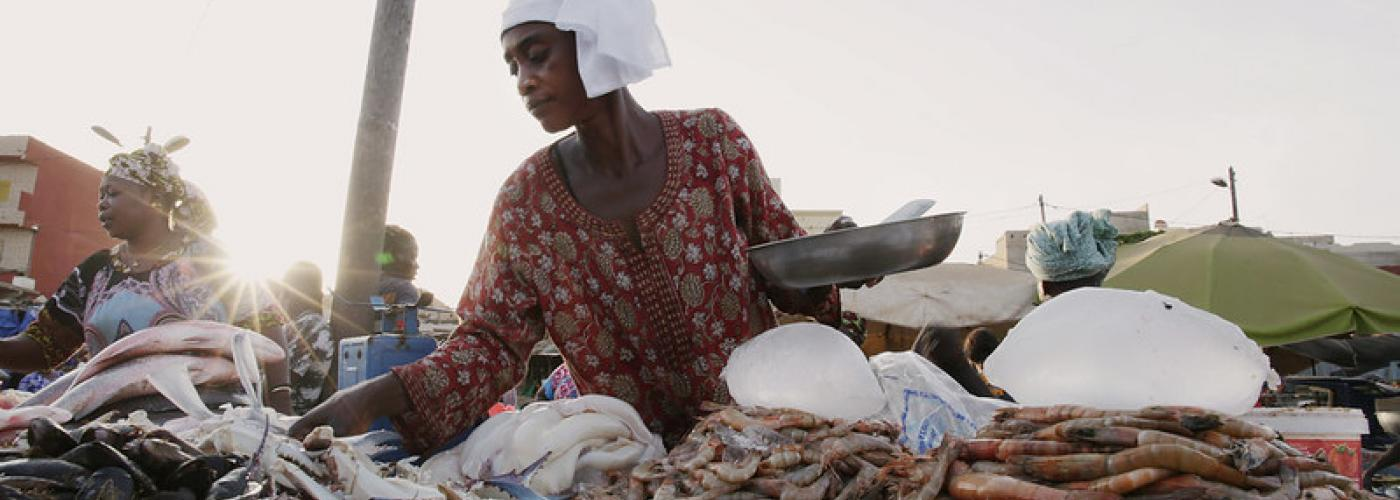 Photo: Fatou Diouf is a fish seller at the Grand Yoff market in Dakar, Senegal.