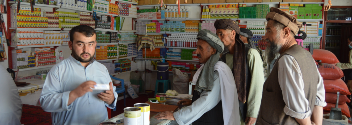 Photo: Shop owner in Northern Afghanistan. Photo Credit: @ILO R2J, 2017