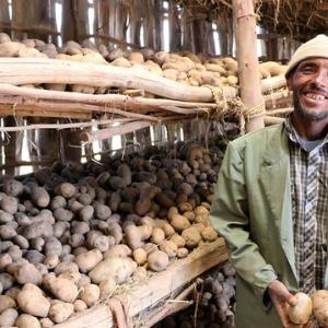 Amare Bihonegh lives in Tach Gyint district of the Amhara Region of Ethiopia. Credit: Kebede Lulie, Food for the Hungry