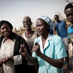 Photo: Group of community members in South Sudan. Photo courtesy of Mercy Corps