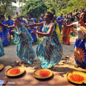 Ladies dancing in Rwanda. Photo: Kirsten Pfeiffer, PSDAG