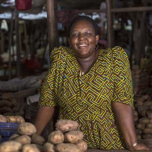 Johanita Juvenal Katunzi, Trader at Temeke Market.  Photo: UN Women/Daniel Donald.