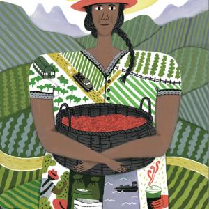 Photo: Art of female farmer