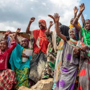 Members of the girls club at Tutis Primary School in Ethiopia. Photo: UNICEF Ethiopia