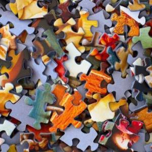 Photo: multi-color puzzle pieces