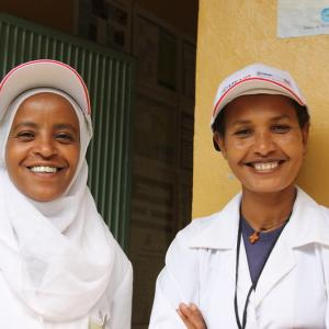 Photo: Health officers at a health center in the SNNP Region of Ethiopia