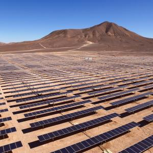 Rows of solar panels in Latin America