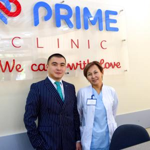 Kyrgyzstani entrepreneur Arman Alibay (left) founded the private healthcare clinic Prime Clinic in the capital city of Bishkek.