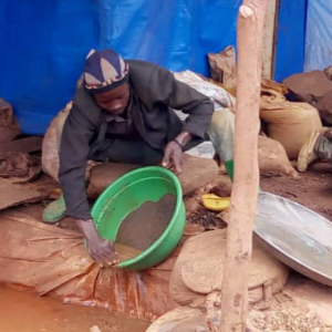 A gold miner working