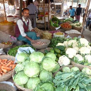 Photo: Selling Vegetables in Bangladesh