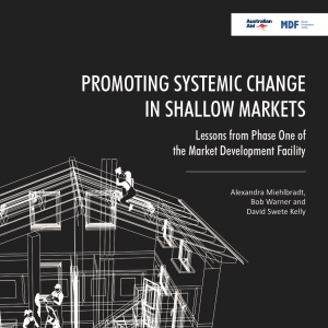 Promoting Systemic Change in Shallow Markets - Lessons from Phase One of the Market Development Facility