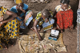Youth selling products in Mali