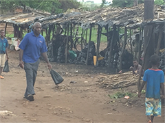 In Gorongosa village in Central Mozambique, charcoal provides staple income for